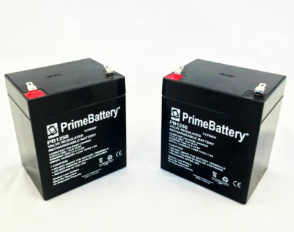 12v 5 Ah 2 Pack Rechargeable Battery