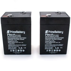 6V 4.5ah Batteries 2 pack