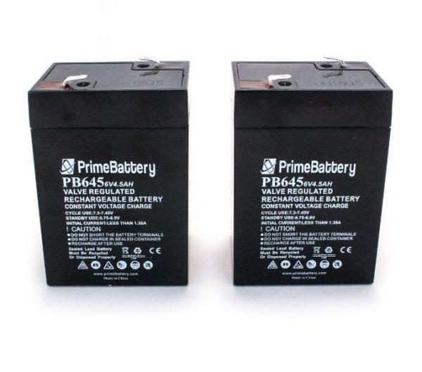 6V 4.5ah Batteries 2 pack